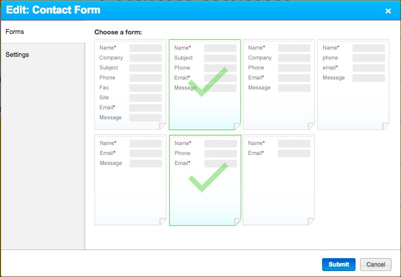 Forms tab