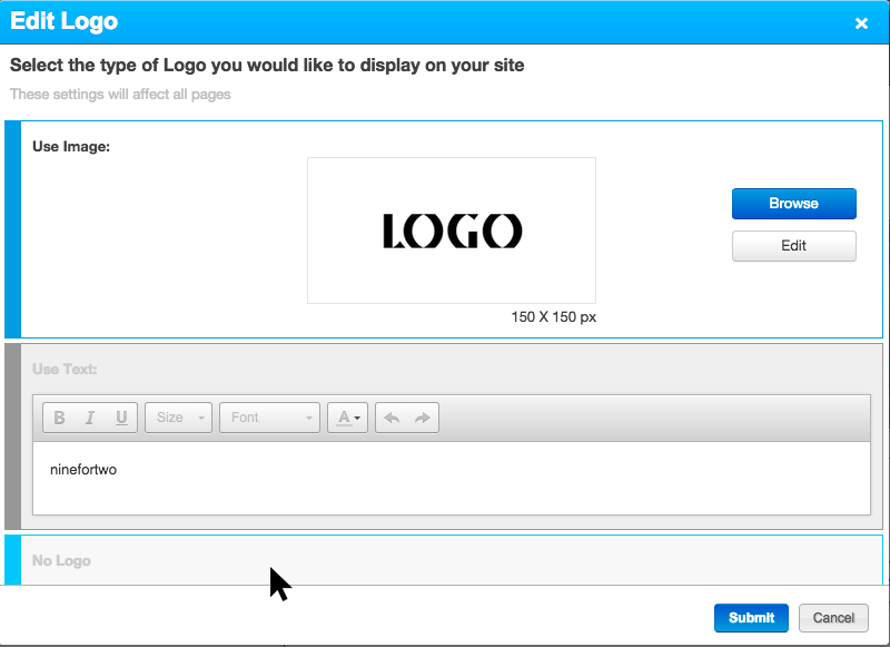 Option 'No logo'